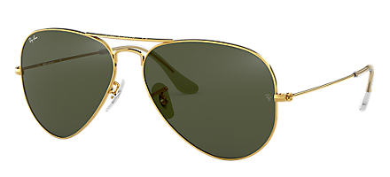 615cba797a1 Ray-Ban Aviator Classic Gold with Green Classic G-15 lens