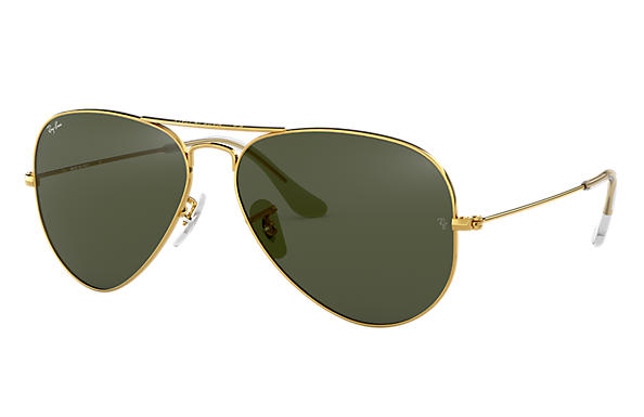 Ray-Ban Aviator Classic RB3025 Gold - Metal - Green Lenses ... a5a6d034a2