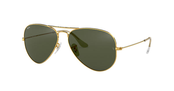04c10d27a Ray-Ban Aviator Classic RB3025 Gold - Metal - Green Lenses - 0RB3025L020558  | Ray-Ban® USA