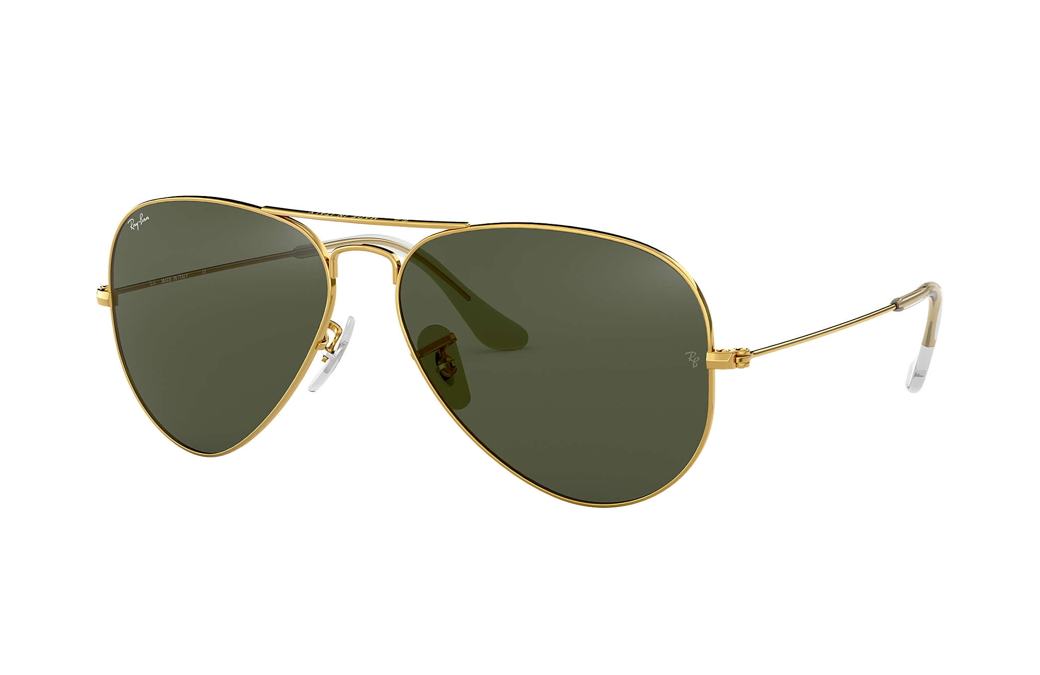 b64f7886a05 Ray-Ban Aviator Classic RB3025 Gold - Metal - Green Lenses ...