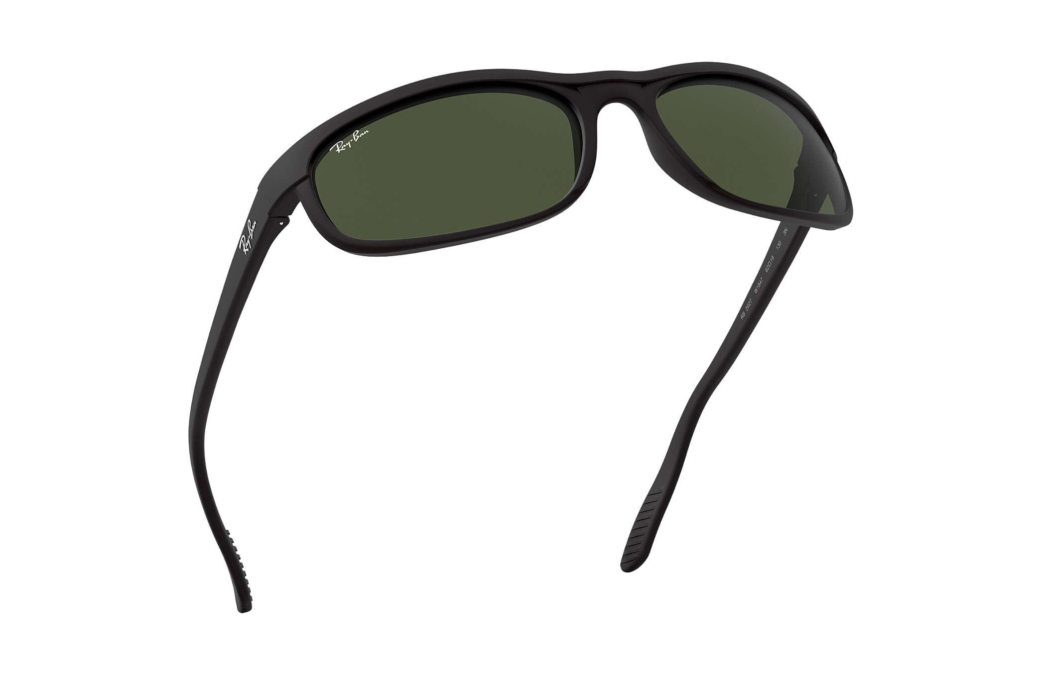 8a3255abaa46 Ray-Ban Predator 2 RB2027 Black - Nylon - Green Lenses ...