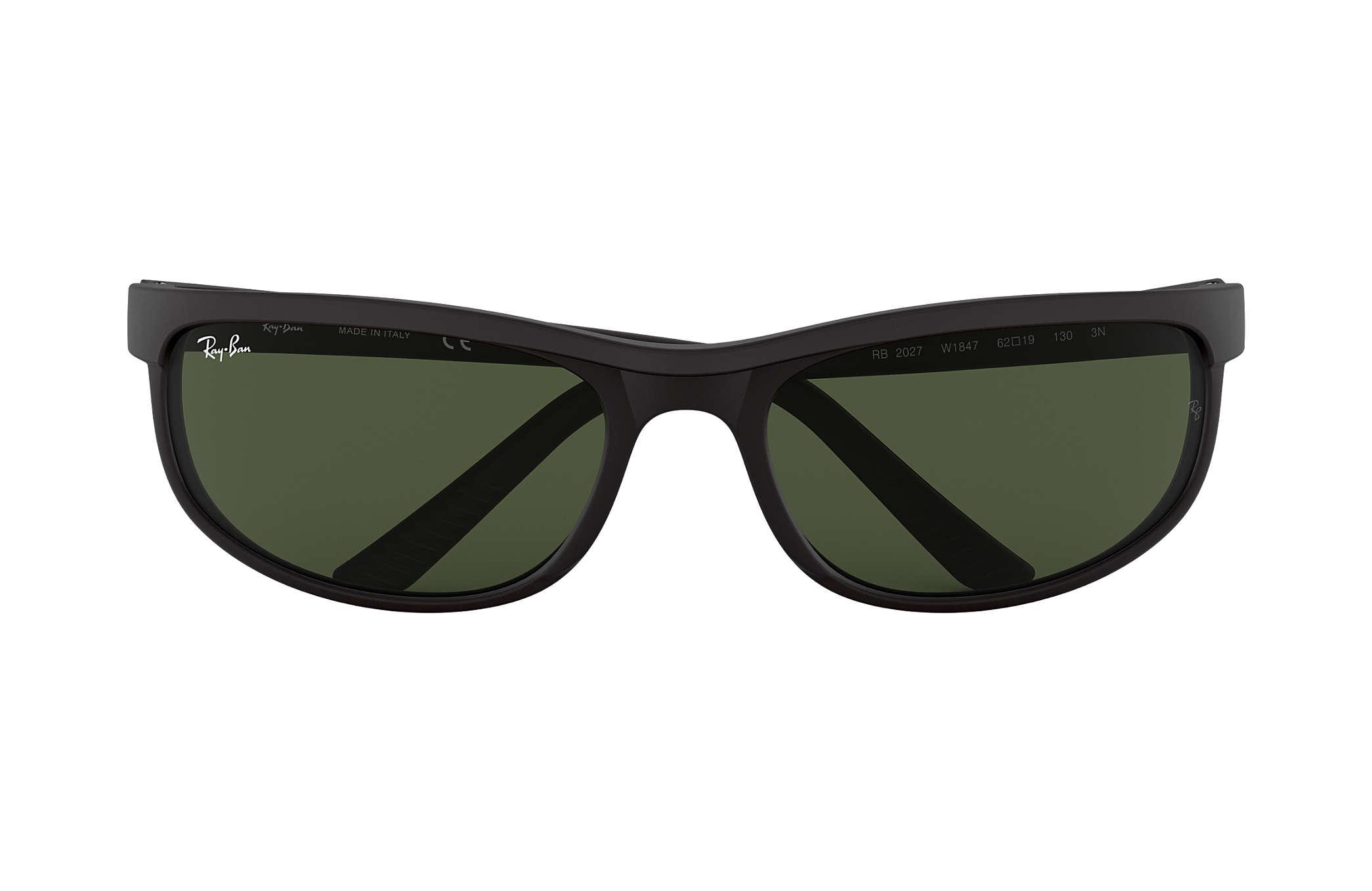 0488c3479e Ray-Ban Predator 2 RB2027 Black - Nylon - Green Lenses ...