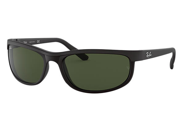 0488c3479e Ray-Ban Predator 2 RB2027 Black - Nylon - Green Lenses ...
