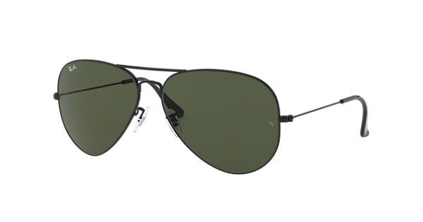 503fa9fa9f Ray-Ban Aviator Classic RB3026 Black - Metal - Green Lenses -  0RB3026L282162