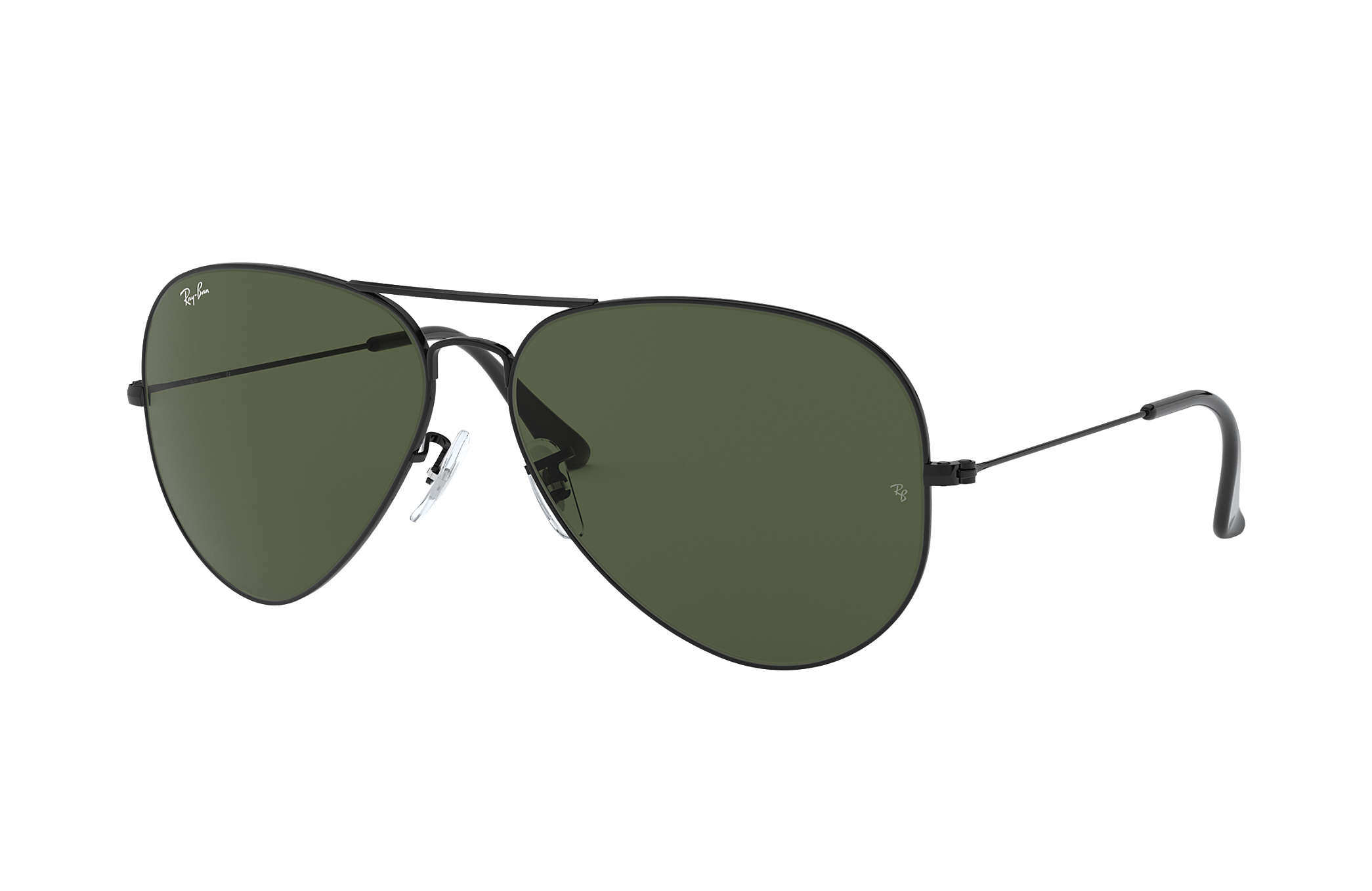 18cb2b0c6ebba Ray-Ban Aviator Classic RB3026 Black - Metal - Green Lenses ...