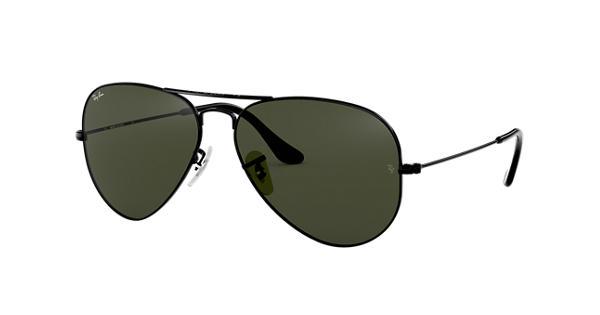 Ray-Ban Aviator Classic RB3025 Black - Metal - Green Lenses -  0RB3025L282358   Ray-Ban® USA bb5ac91872bc