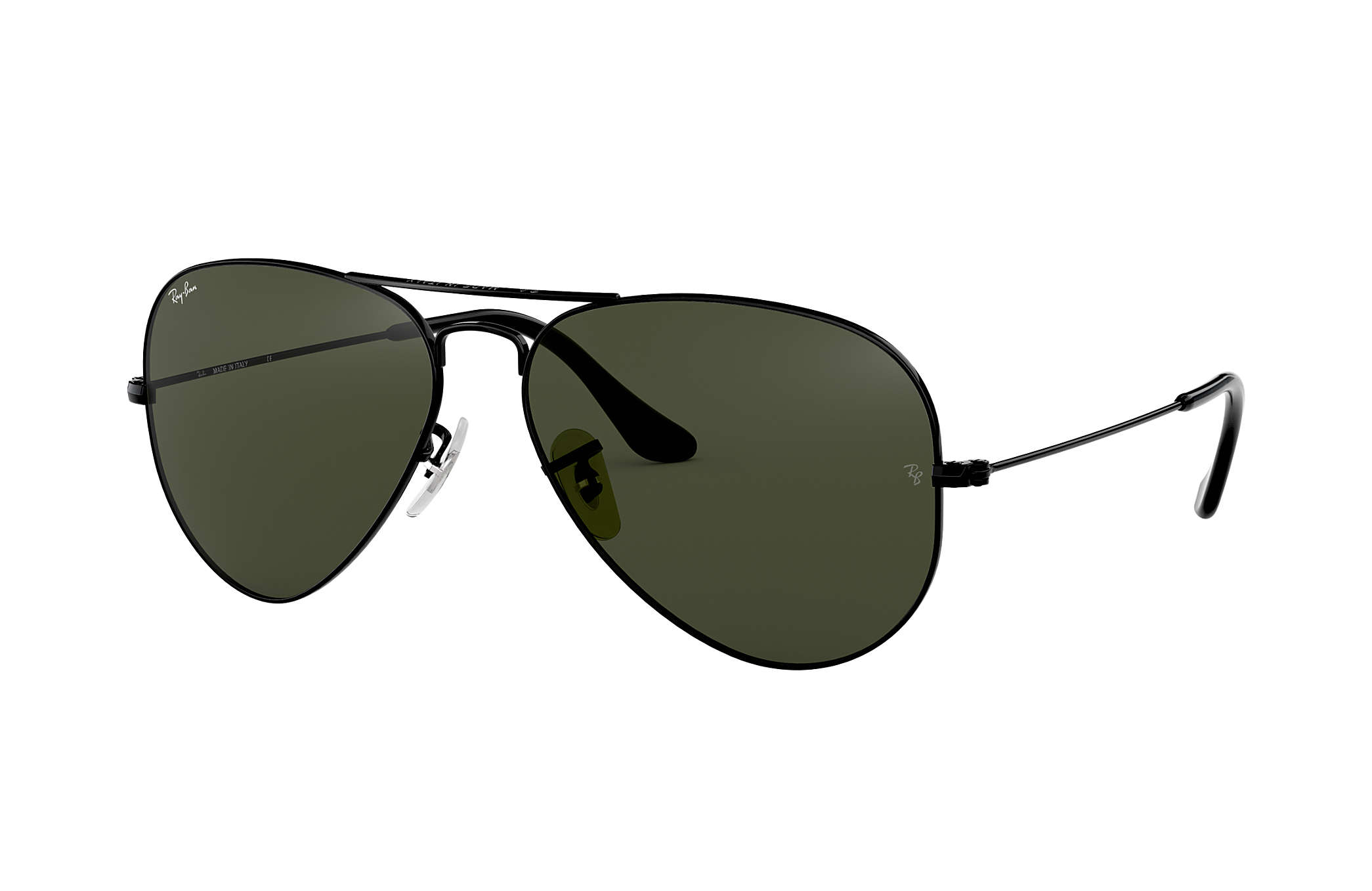 Ray-Ban Aviator Classic RB3025 Negro - Metal - Lentes Verde ...