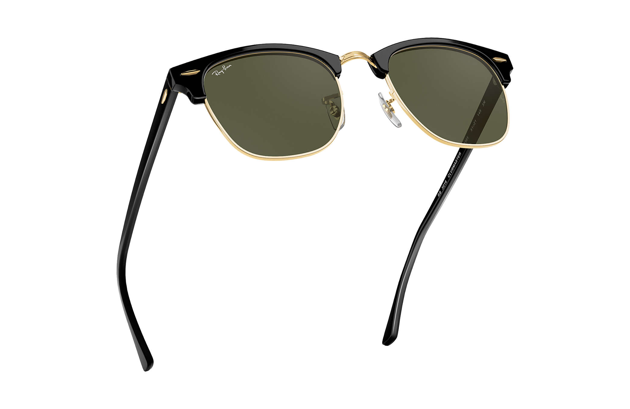 2d65d0e3b1d Ray-Ban Clubmaster Classic RB3016 Black - Acetate - Green Lenses ...