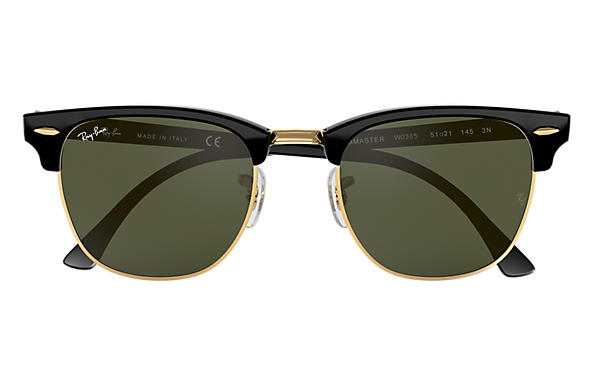 Ray-Ban CLUBMASTER CLASSIC Black with Green Classic G-15 lens