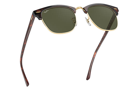 30778e12792 Ray-Ban Clubmaster Classic RB3016 Tortoise - Acetate - Green Lenses ...