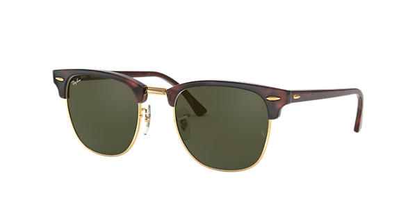 f082037c18 Ray-Ban Clubmaster Classic RB3016 Tortoise - Acetate - Green Lenses -  0RB3016W036649