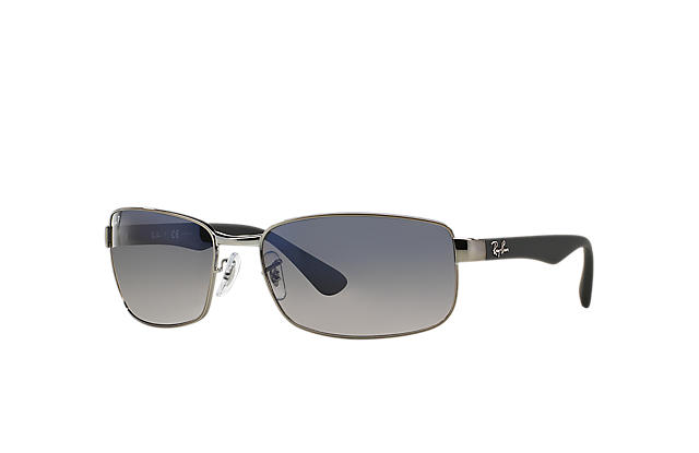 a0e4cbf1417 Ray-Ban RB3478 Gunmetal - Metal - Blue Grey Polarized Lenses ...