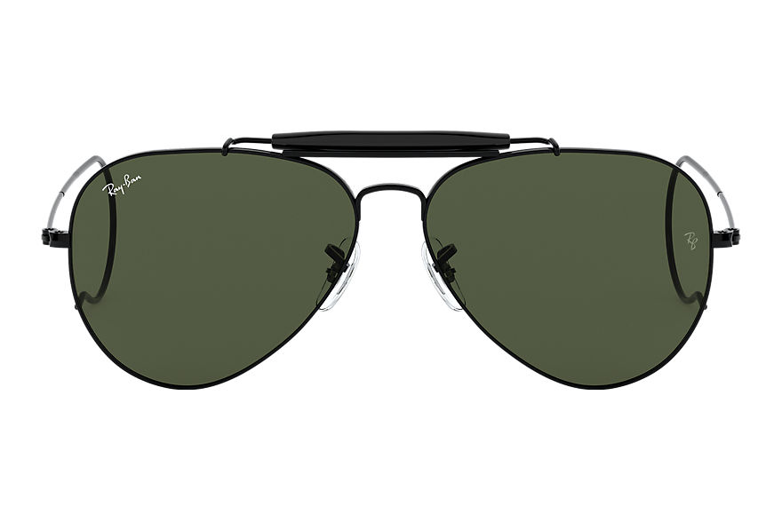 Ray-Ban  oculos de sol RB3030 MALE 005 outdoorsman preto 805289695004