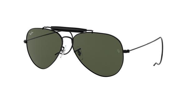 41c17a4a6d Ray-Ban Outdoorsman RB3030 Black - Metal - Green Lenses - 0RB3030L950058