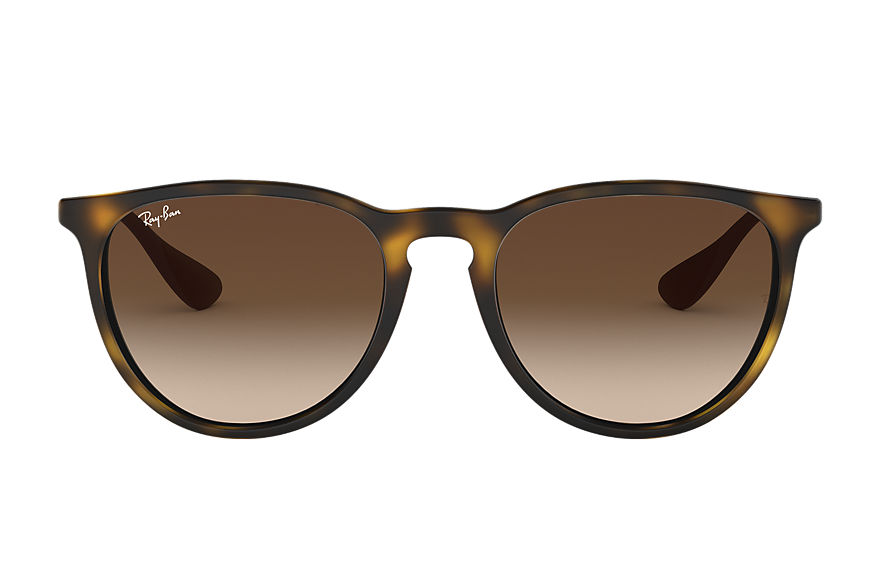 Ray-Ban Sunglasses ERIKA CLASSIC Matte Tortoise with Brown Gradient lens