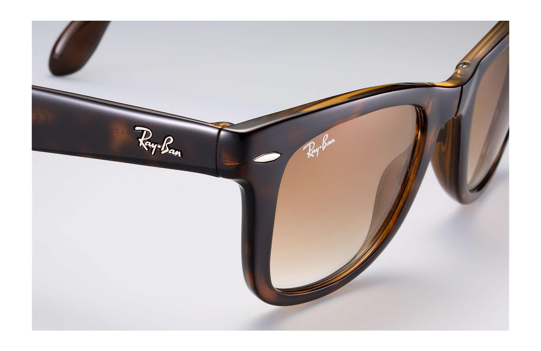 5a7448508a6 Ray-Ban Wayfarer Folding Classic RB4105 Tortoise - Nylon - Light ...