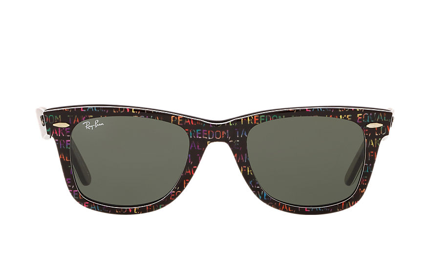 Ray-Ban ORIGINAL WAYFARER RARE PRINTS - TYPEDELIC Multicolor with Green Classic G-15 lens