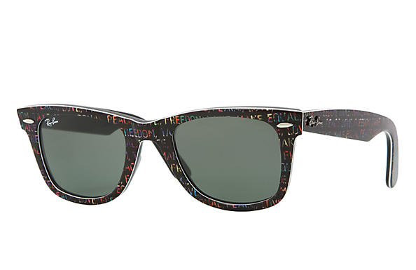 Ray-Ban 0RB2140-ORIGINAL WAYFARER RARE PRINTS Multicolor,Schwarz SUN