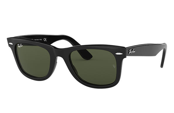cbe3d0c6bf Ray-Ban Original Wayfarer Classic RB2140F Black - Acetate - Green ...