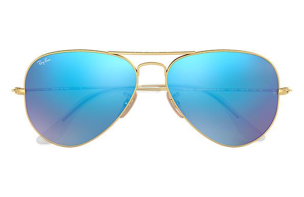 Ray-Ban Aviator Flash Lenses RB3025 Gold - Metal - Blue Lenses ... 3ce66d2c190