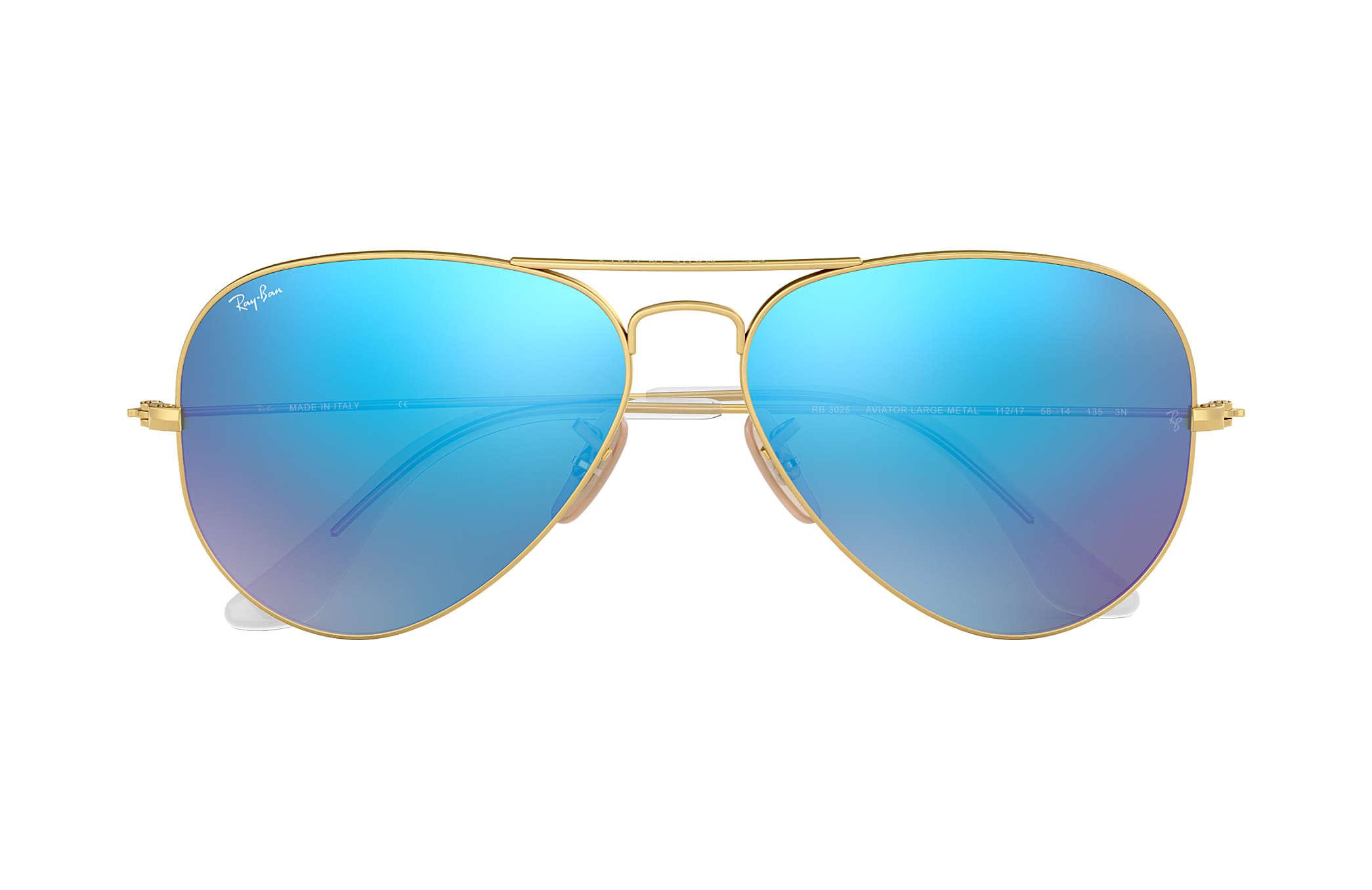 ray ban aviator espejo azul
