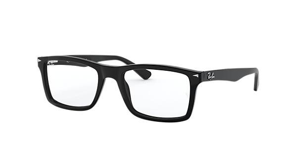 b6c9c90ea92 Ray-Ban prescription glasses RB5287 Black - Acetate - 0RX5287200052 ...