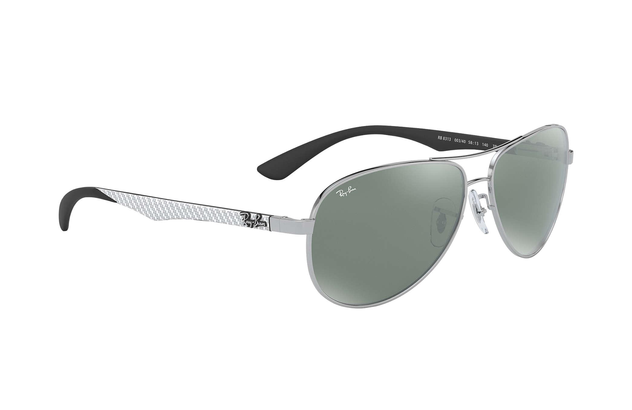 1ebbdb2896005 Ray-Ban RB8313 Silver - Carbon Fibre - Silver Lenses - 0RB8313003 ...