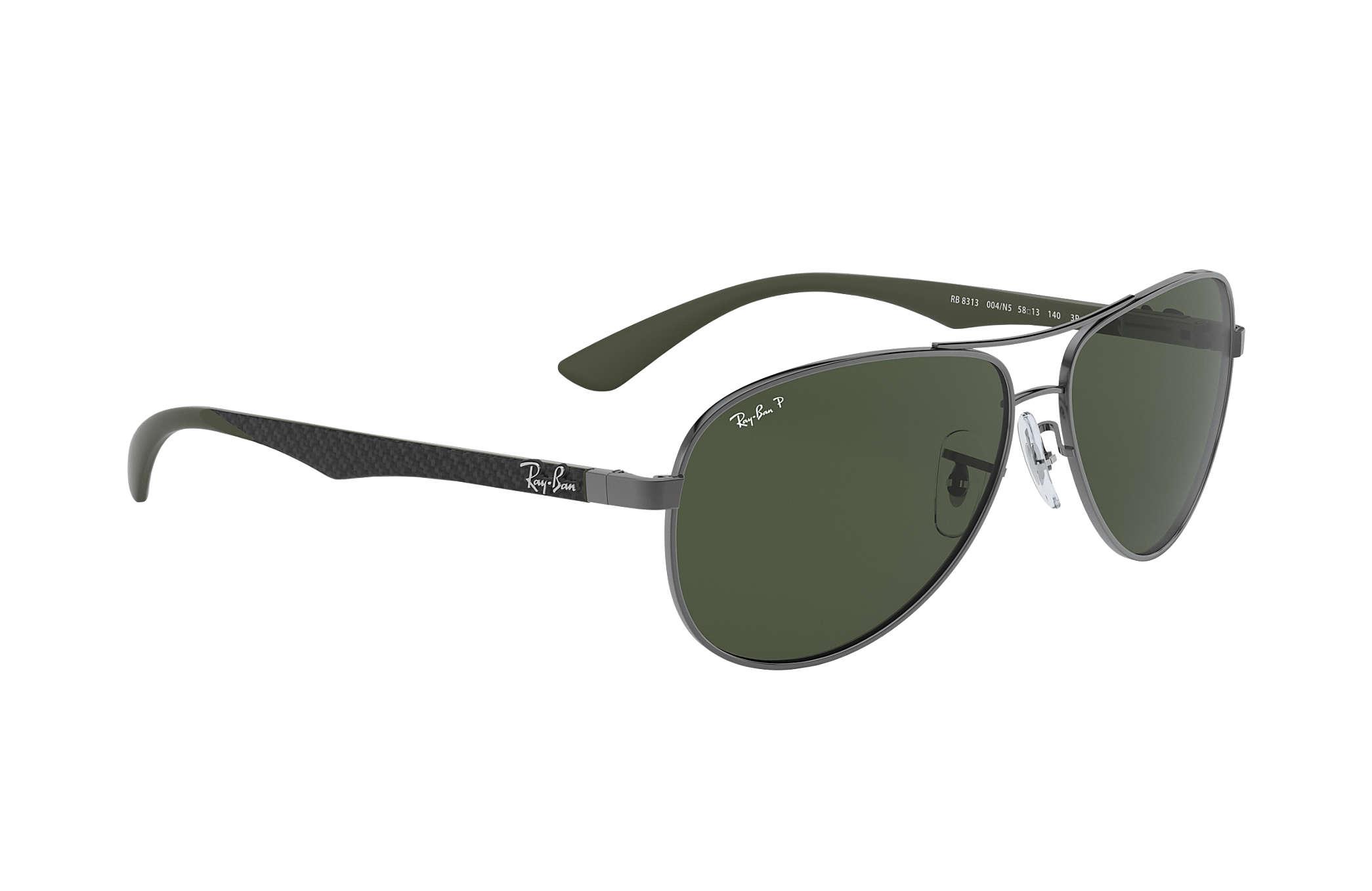 9fd7e8a0c05d6 Ray-Ban RB8313 Gunmetal - Carbon Fibre - Green Polarized Lenses ...