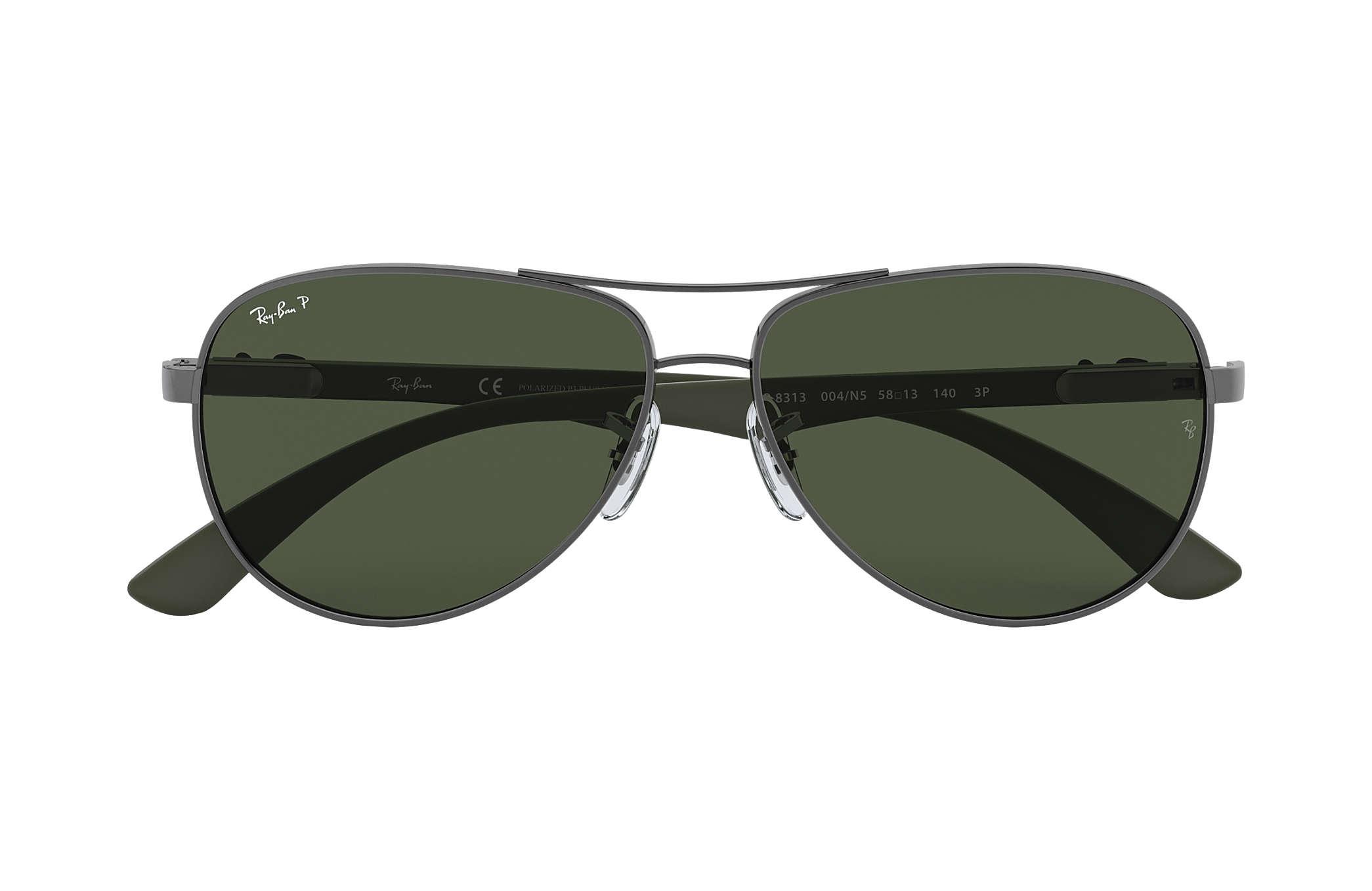 0d937ec34e42c Ray-Ban RB8313 Gunmetal - Carbon Fibre - Green Polarized Lenses ...