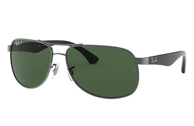 f2f8125de0 Ray-Ban RB3502 Gunmetal - Metal - Green Polarized Lenses ...