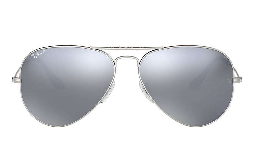 Ray-Ban Sunglasses AVIATOR MIRROR Silver with Silver Flash lens