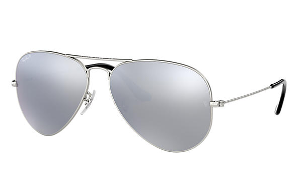 162edb052fc2 Ray-Ban Aviator Mirror RB3025 Silver - Metal - Silver Polarized ...