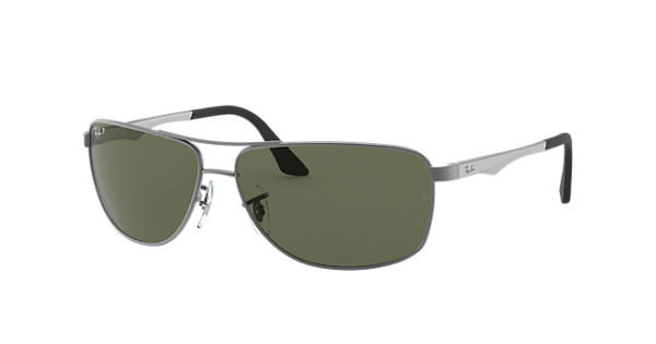 a0a3853544 Ray-Ban RB3506 Gunmetal - Metal - Green Polarized Lenses - 0RB3506029 9A64
