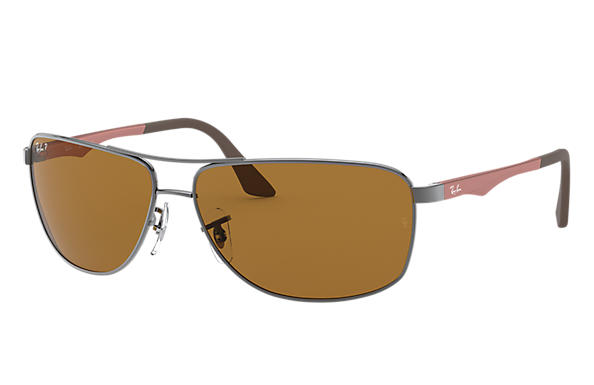 Ray-Ban 0RB3506-RB3506 Gunmetal; Marrón SUN