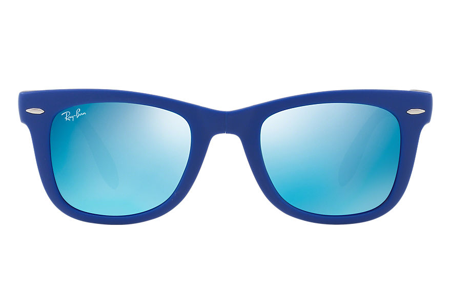 Ray-Ban Sunglasses WAYFARER FOLDING FLASH LENSES Blue with Blue Flash lens