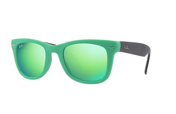 Ray-Ban 0RB4105-WAYFARER FOLDING FLASH LENSES Green SUN
