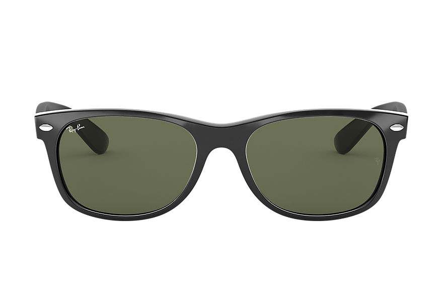 Ray-Ban  sunglasses RB2132F UNISEX 018 new wayfarer classic low bridge fit black 8053672060447