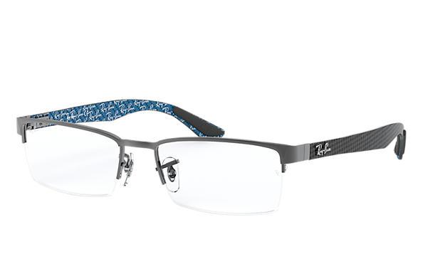 10fac296db Ray-Ban prescription glasses RB8412 Brown - Carbon Fibre ...