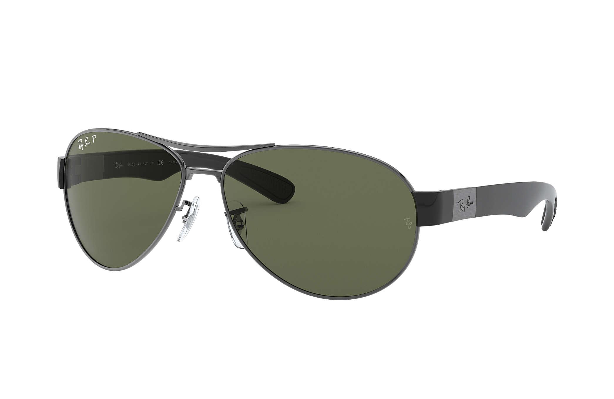 e3777d1cf1 Ray-Ban RB3509 Gunmetal - Metal - Green Polarized Lenses ...