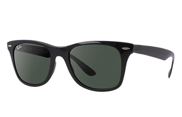 d2cab4d93 Ray-Ban Wayfarer Liteforce RB4195 Black - Liteforce - Green Lenses ...