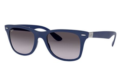 7022cb0f1b3 Ray-Ban Wayfarer Liteforce RB4195 Blue - Liteforce - Grey Lenses -  0RB419560158G52