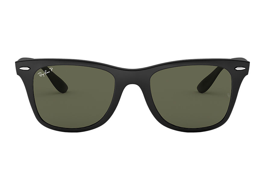 Ray-Ban Sunglasses WAYFARER LITEFORCE Matte Black with Green Classic G-15 lens