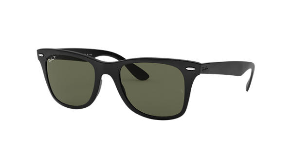 f70317ebbfd4b Ray-Ban Wayfarer Liteforce RB4195 Black - Liteforce - Green Polarized Lenses  - 0RB4195601S9A52