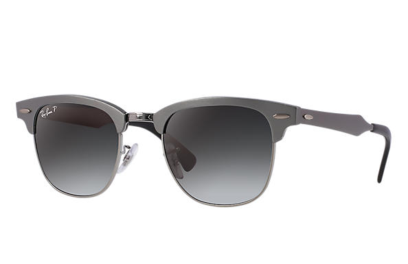 Ray-Ban Clubmaster Aluminum RB3507 Silver - Aluminum - Silver Lenses ... c74a9f6819