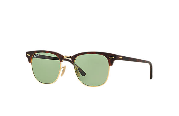 728169f3485 Ray-Ban Clubmaster Classic RB3016 Black - Acetate - Green Polarized Lenses  - 0RB3016901 5849