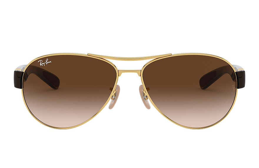 Ray-Ban RB3509 Gold with Brown Gradient lens