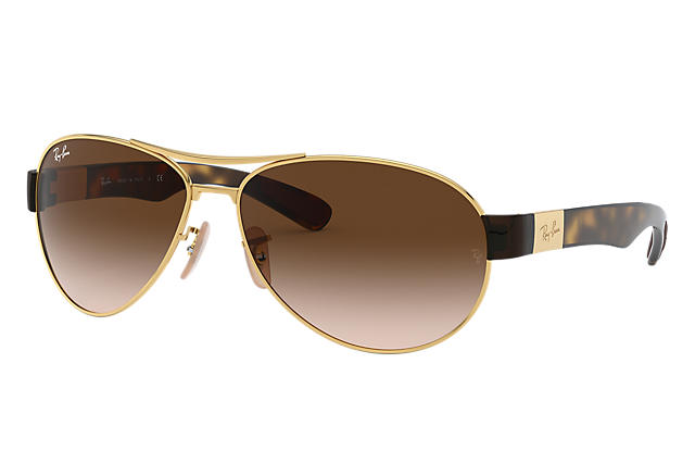 7d7a7efd9b Ray-Ban RB3509 Gold - Metal - Brown Lenses - 0RB3509001 1363 ...