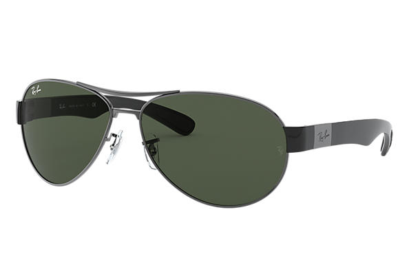 32235c0932 Ray-Ban RB3509 Gunmetal - Metal - Green Lenses - 0RB3509004 7163 ...