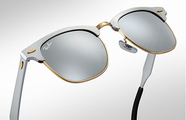 Ray-Ban Clubmaster Aluminum RB3507 Silver - Aluminum - Silver Lenses ... 42dddbed45