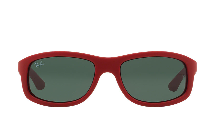 Ray-Ban RJ9058S Red with Green Classic lens